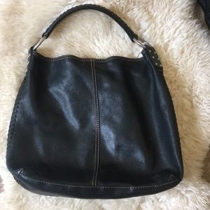 Lucky brand penny's pebbled leather hobo bag